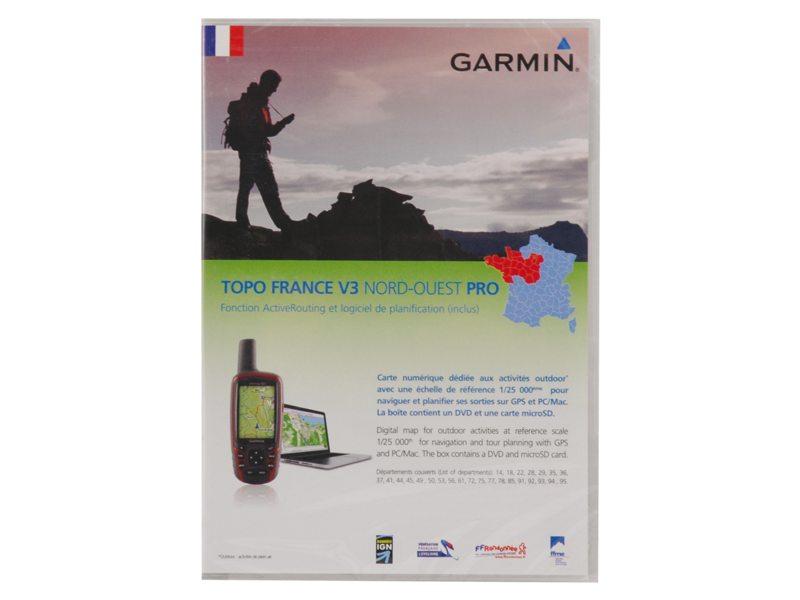 NAVDL GARMIN TOPO FRANKRIJK V3 NOORD-WEST PRO DVD & MICROSD