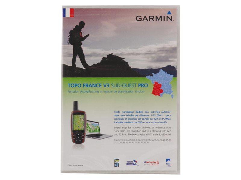 NAVDL GARMIN TOPO FRANKRIJK V3 ZUID-WEST PRO DVD & MICROSD