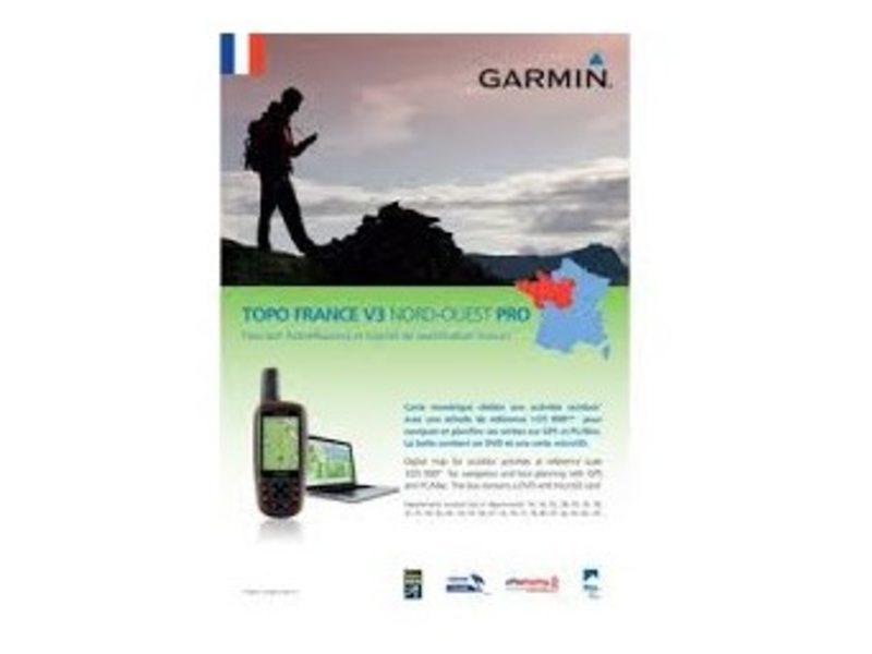 NAVDL GARMIN TOPO FRANKRIJK V4 NOORDWEST PRO DVD + MICROSD
