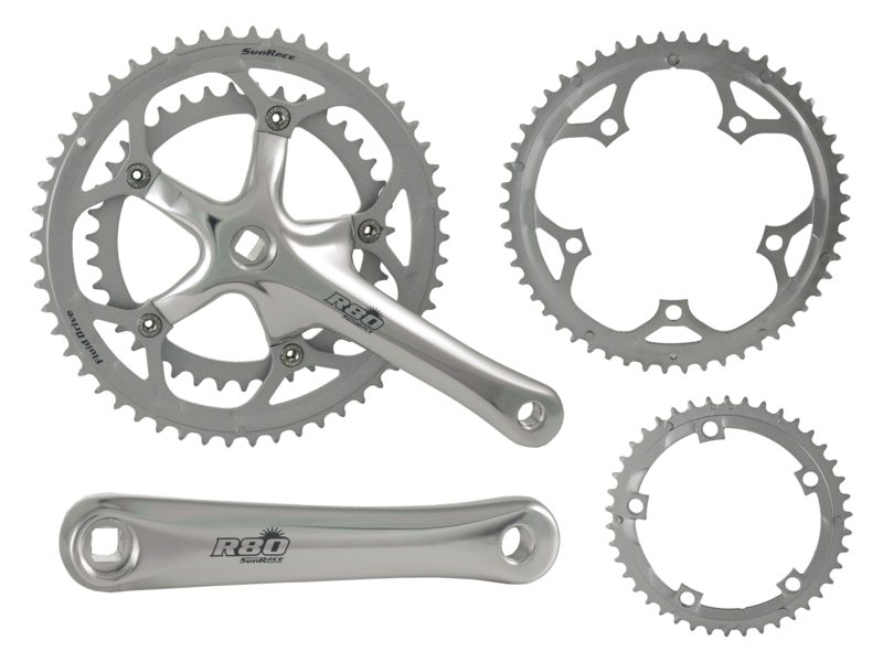 CRANK R+L SUNRACE R81 170MM 53-39TDS EXTRA 2 BLADEN 52-42T