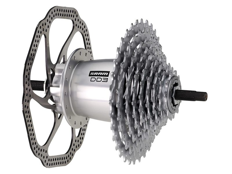 NAAF A SRAM DUALDRIVE 3 DISC 36 GTS  135OLD ZILVER