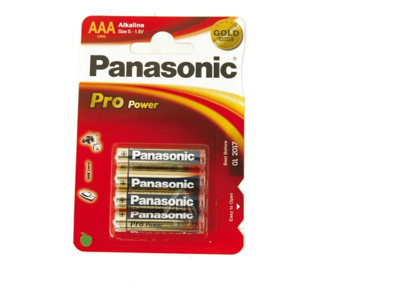 BATT PANA PROPOWER LR03 PENLITE AAA PREMIUM ALKALINE (4)