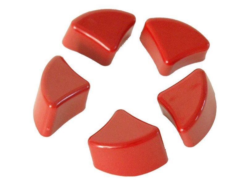 Axa slot knop solid wp(5) rood