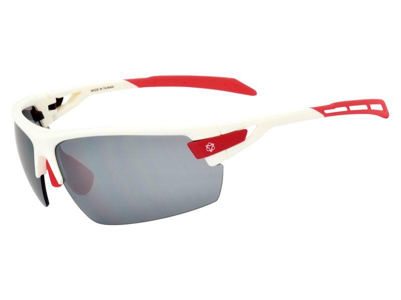 Agu bril foss wit rood incl smoke/trans/oranje len