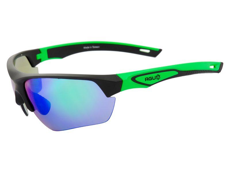 Agu bril medina zwart/groen incl smoke/trans/oranj