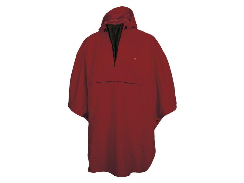 Agu poncho grant burgundy red one size