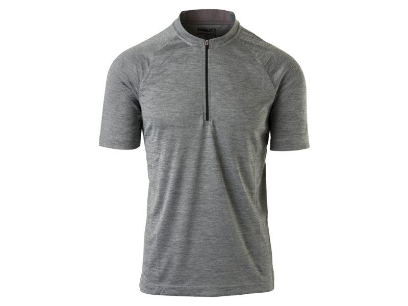 Agu shirt km mtb zip melange grey m