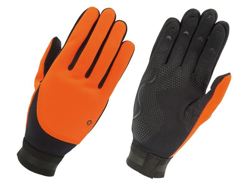 Agu handschoen fleece liner oranje m