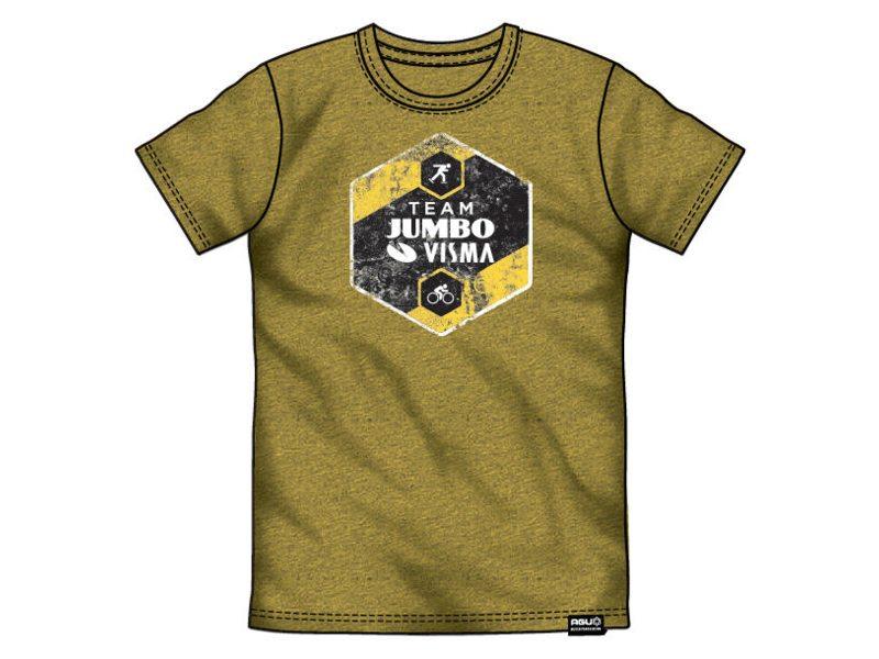 Agu tee jumbo-visma team logo melange/yellow xs