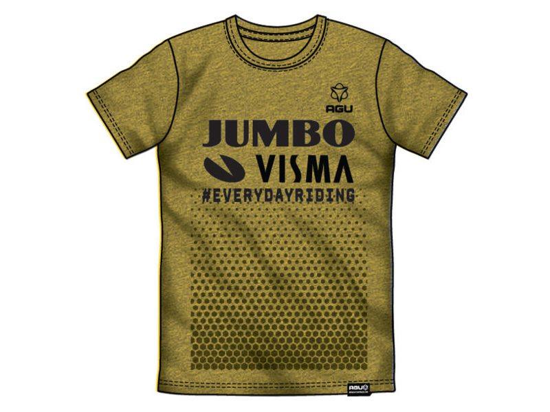 Agu tee jumbo-visma replica melange/yellow xxxl