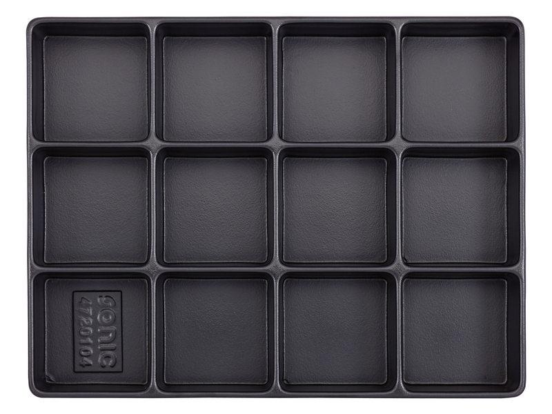Bakje, leeg 12 vaks (290x370x 48mm)